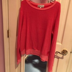 Wildfox hot pink sweater super comfortable!